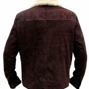 Rick Grimes Brown Suede Leather Jacket Back