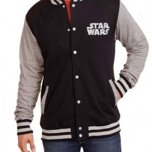 Star Wars Mens Wool Varsity Jacket Front